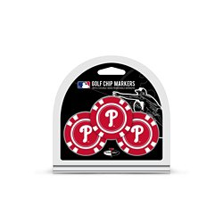 Philadelphia Phillies Poker Chip and Golf Ball Marker Set