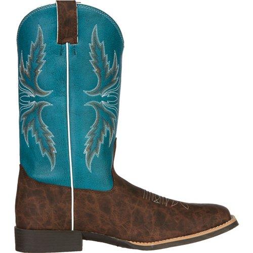 Justin Kids' Cowhide Bent Rail Western Boots