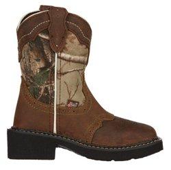 Justin Girls' Aged Bark Gypsy Western Boots