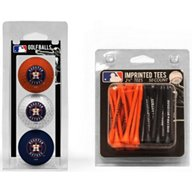 Team Golf Houston Astros Golf Balls and Tees Set