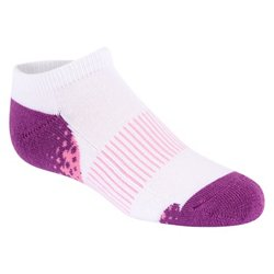 BCG Girls' Cushioned No-Show Socks 6 Pack