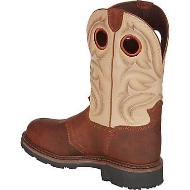 d1f0670a443 Tony Lama Men's Grizzly 3R EH Steel Toe Wellington Work Boots