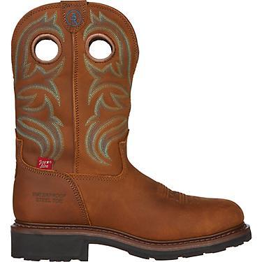 c920ced2a03 Tony Lama Men's Cheyenne Buffalo 3R EH Steel Toe Wellington Work Boots