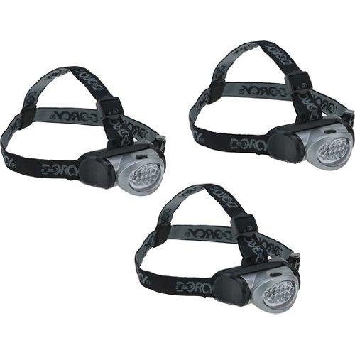 Dorcy LED Headlamps 3-pack