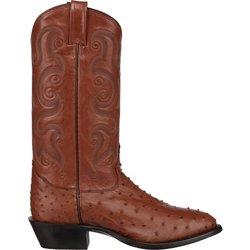 Men's Peanut Brittle Exotics Ostrich Western Boots