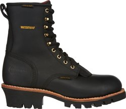 Men's Insulated Waterproof Steel-Toe Logger Rugged Outdoors Boots