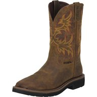 Justin Women's Stampede Rugged Cowhide EH Steel Wellington Work Boots