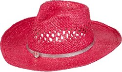 Girls' Shimmer Cowboy Hat with Faux Leather Heart Rhinestone Band