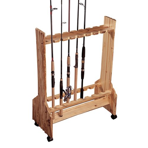 Rush Creek 16-Rod Double-Sided Rolling Rod Rack