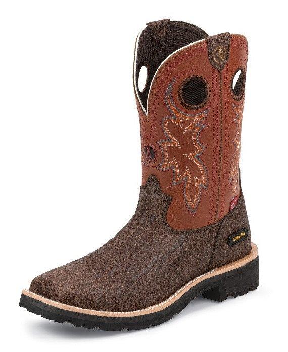 7d3ce085fed Tony Lama Men's Elephant Print 3R EH Composite Toe Wellington Work Boots