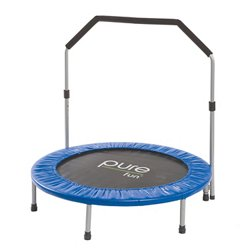 Pure Fun 40 in Exercise Trampoline with Handrail