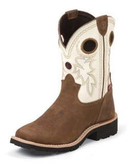 Tony Lama Kids' Bark Cheyenne Buffalo 3R Western Boots