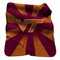 Logo™ Virginia Tech Raschel Throw