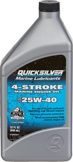 Quicksilver 25W-40 4-Stroke Marine Engine Oil