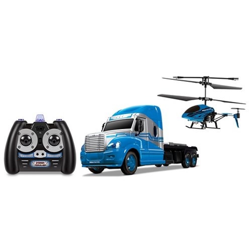 World Tech Toys MegaHauler 3.5-Channel RC Helicopter and Truck IR Combo