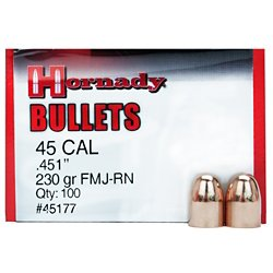 .45 230-Grain FMJ Round Nose Bullets