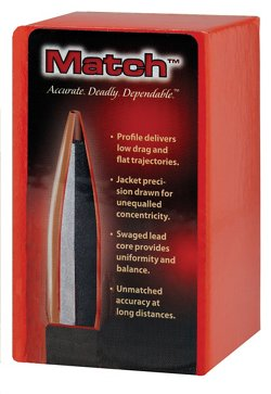 Hornady Match .22 Caliber 75-Grain Hollow-Point Boat-Tail Bullets