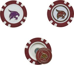 Team Golf Texas State University Poker Chip and Golf Ball Marker Set