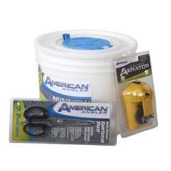 Insulated Minnow Bucket with Aerator Set