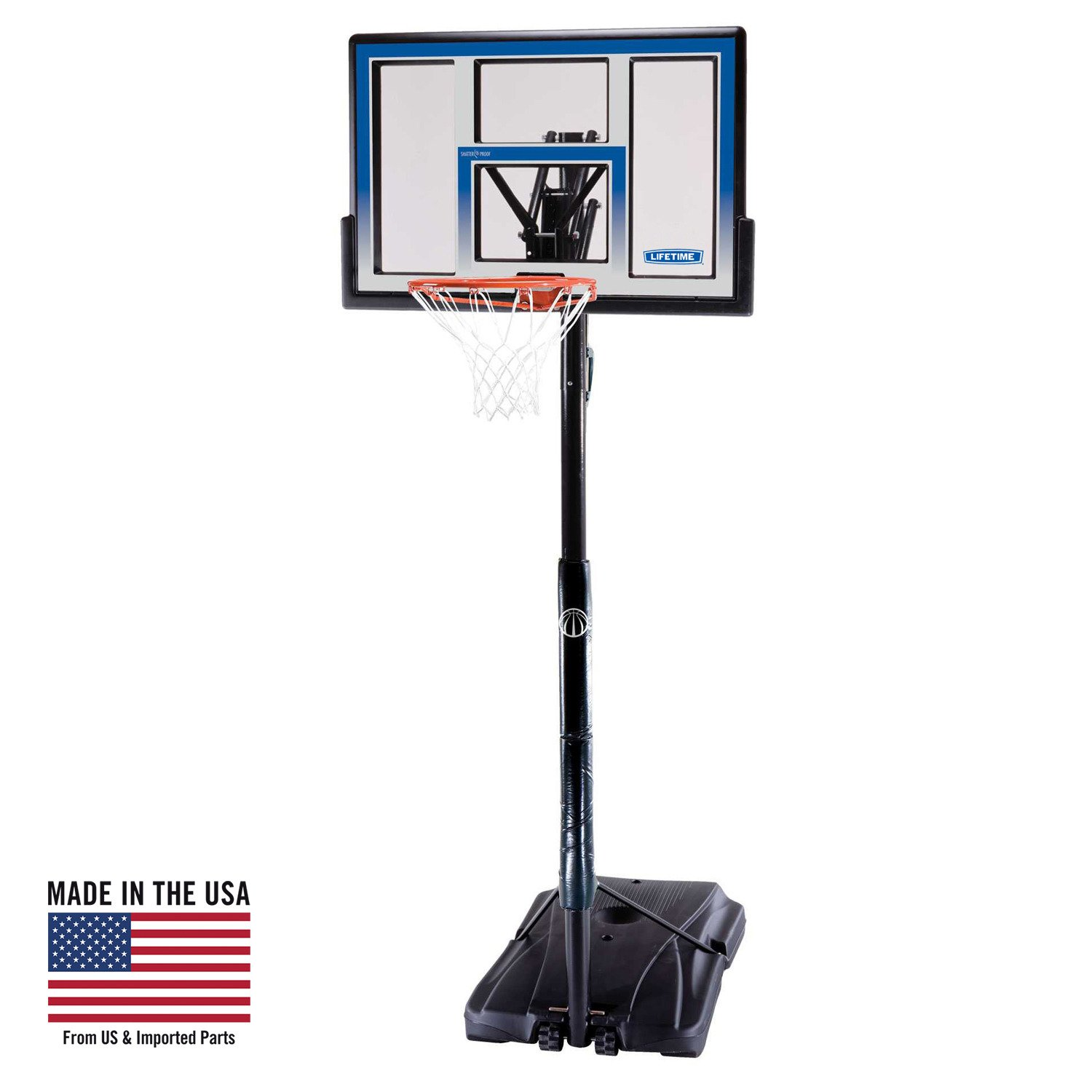 Display Product Reviews For Lifetime Courtside 48 Polycarbonate Portable Basketball Hoop