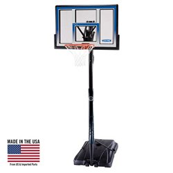 "Courtside 48"" Polycarbonate Portable Basketball Hoop"