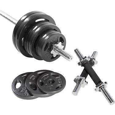 Totall 110//88//44 Weight Dumbbell Set Adjustable Gym Barbell Plates Body Workout