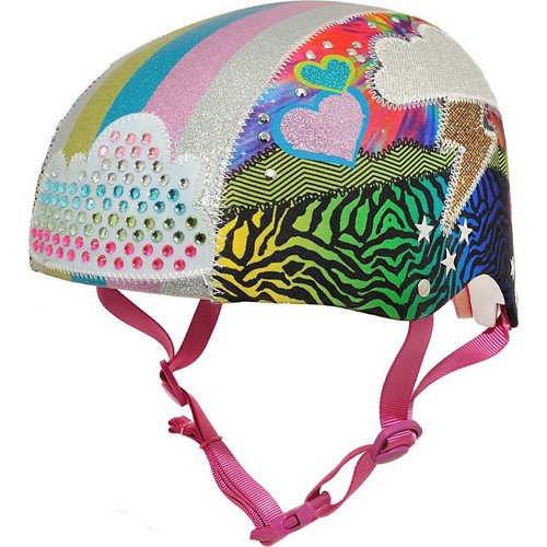 Raskullz Girls' Sparklez Loud Cloud Child Bicycle Helmet
