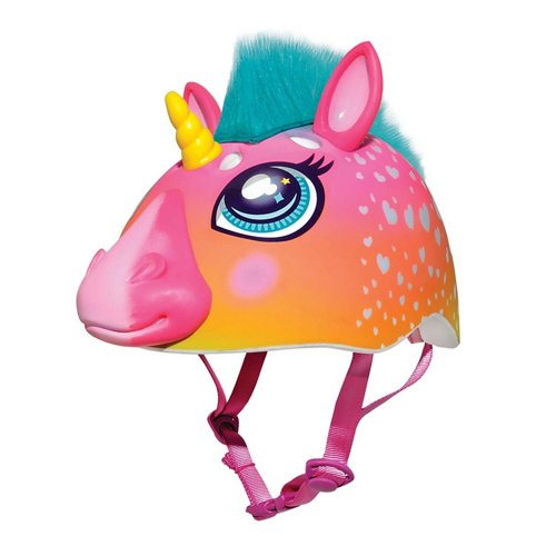 Raskullz Kids' Super Rainbow Corn Hair Bike Helmet