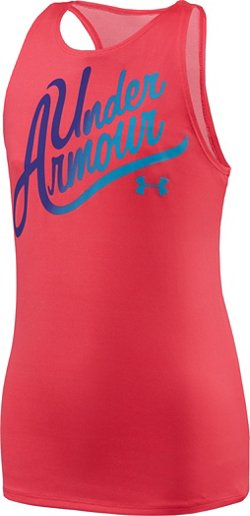 Under Armour Girls' Aloha Wordmark Tank Top