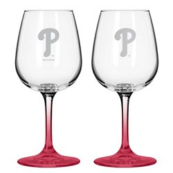 Boelter Brands Philadelphia Phillies 12 oz. Wine Glasses 2-Pack