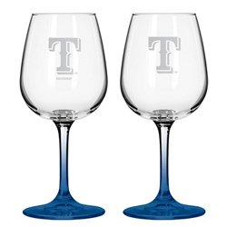 Texas Rangers 12 oz. Wine Glasses 2-Pack