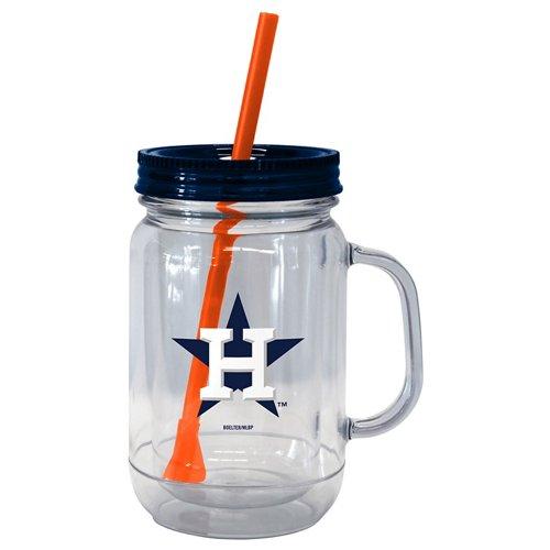 Boelter Brands Houston Astros 20 oz. Handled Straw Tumblers 2-Pack