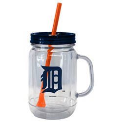 Boelter Brands Detroit Tigers 20 oz. Handled Straw Tumblers 2-Pack