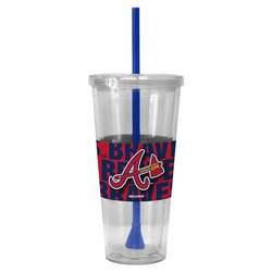 Boelter Brands Atlanta Braves Bold Neo Sleeve 22 oz. Straw Tumblers 2-Pack