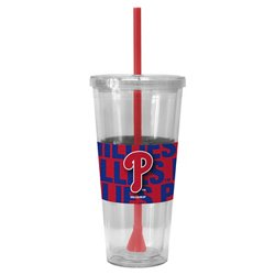 Boelter Brands Philadelphia Phillies Bold Neo Sleeve 22 oz. Straw Tumblers 2-Pack