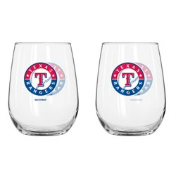 Boelter Brands Texas Rangers 16 oz. Curved Beverage Glasses 2-Pack