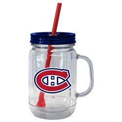 Boelter Brands Montreal Canadiens 20 oz. Handled Straw Tumblers 2-Pack