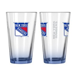 New York Rangers Elite 16 oz. Pint Glasses 2-Pack