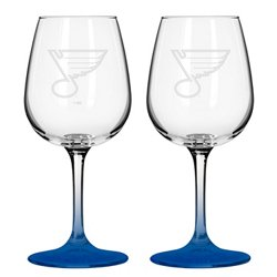 Boelter Brands St. Louis Blues 12 oz. Wine Glasses 2-Pack