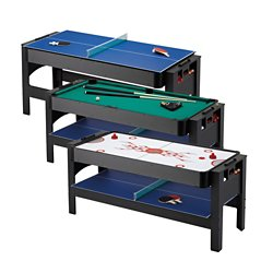 3-in-1 Flip Air Hockey/Billiards/Table Tennis Game Table