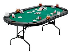 Fat Cat Texas Hold 'Em Poker Table with Drink Holders