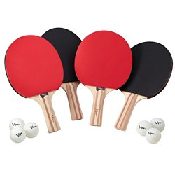4-Racket Table Tennis Set