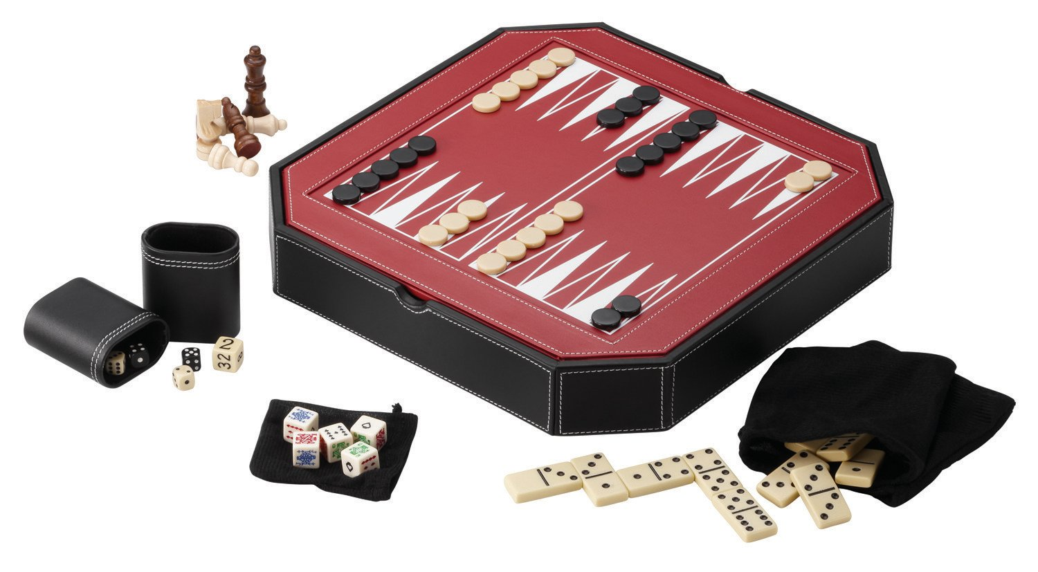 Mainstreet Classics 5 In 1 Octagon Combo Game Table