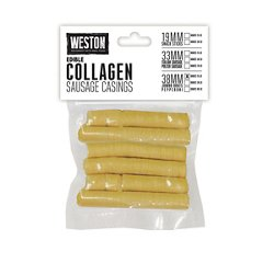 38 mm Edible Collagen Sausage Casings for 15 lb.