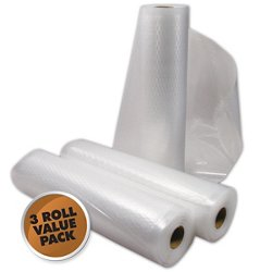 "8"" x 22' Vacuum Bag Rolls 3-Pack"