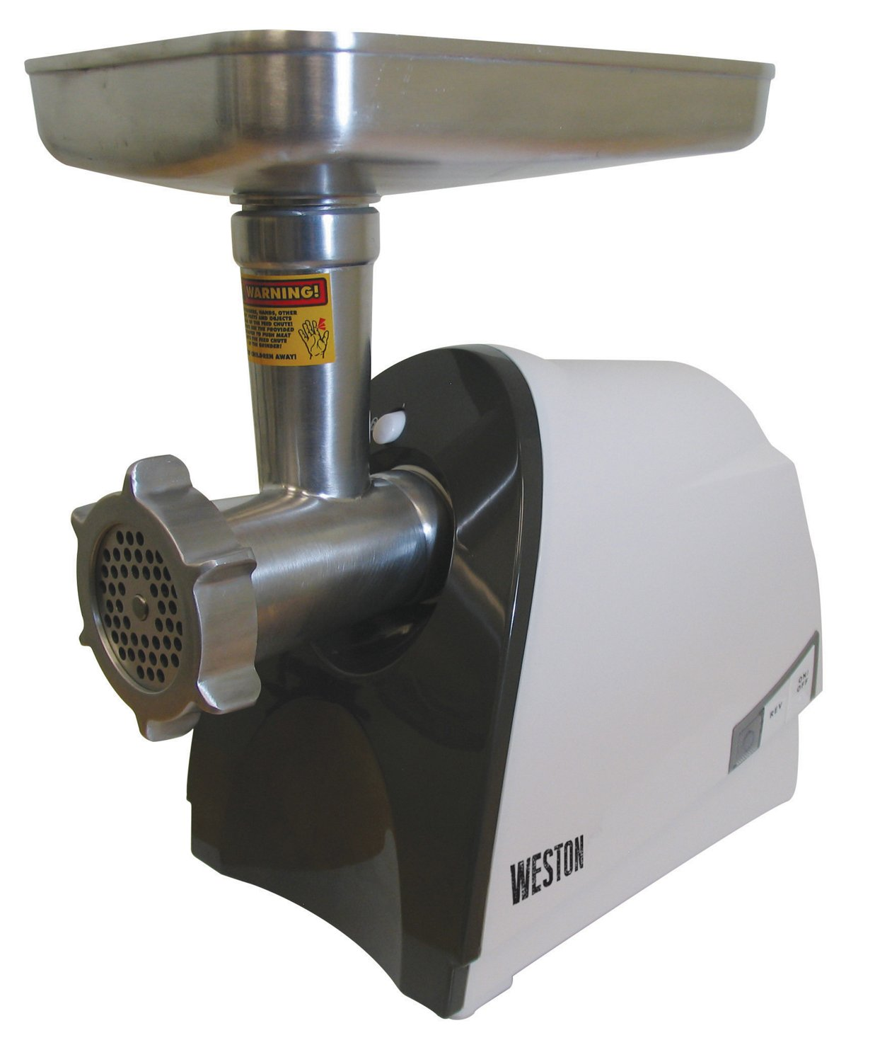 Weston #8 Heavy-Duty Electric Meat Grinder and Sausage Stuffer 575 Watts