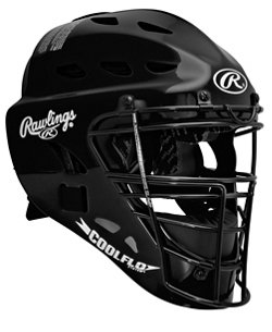 Rawlings Adults' COOLFLO Catcher's Helmet with Contour Jaw Pad