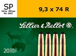 9.3mm x 74 R 285-Grain Soft Point Centerfire Rifle Ammunition