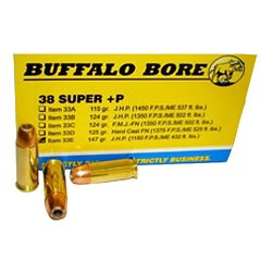 +P .38 Super 147-Grain Centerfire Handgun Ammunition