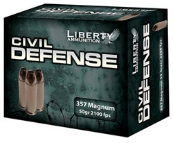 Civil Defense Hollow Point Centerfire Handgun Ammunition